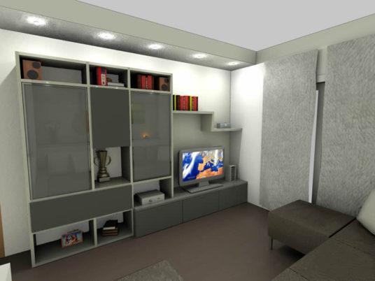Progettazione in rendering sala